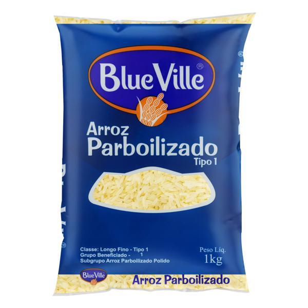 Arroz Parboilizado Tipo 1 Blue Ville Pacote 1kg