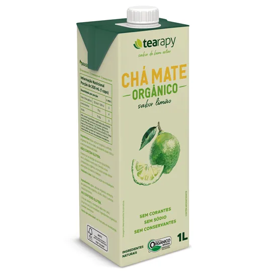 Chá Mate Limão Orgânico  1L - Tearapy