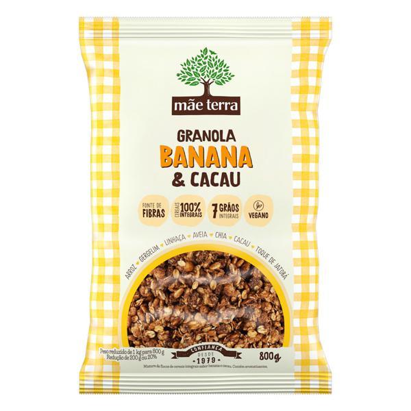 Granola Banana e Cacau  Integral 1kg - Mãe Terra