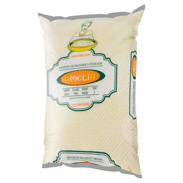Farinha de Mandioca Tipo 1 Torrada Amélia Pacote 1kg