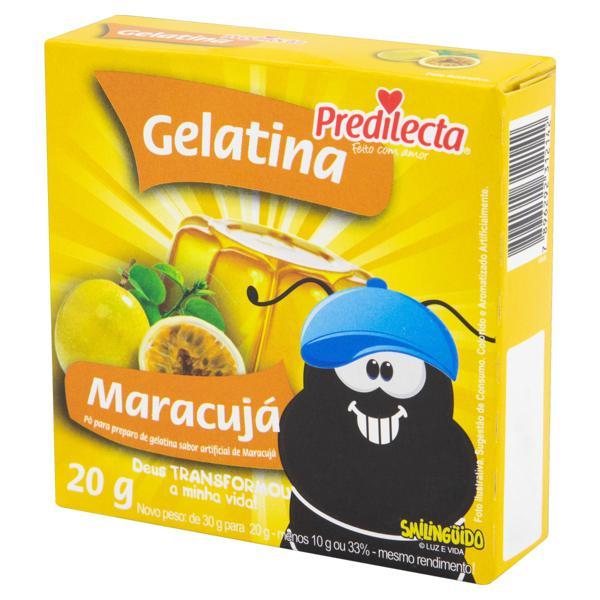 Gelatina em Pó Maracujá Smilingüido Predilecta Caixa 20g