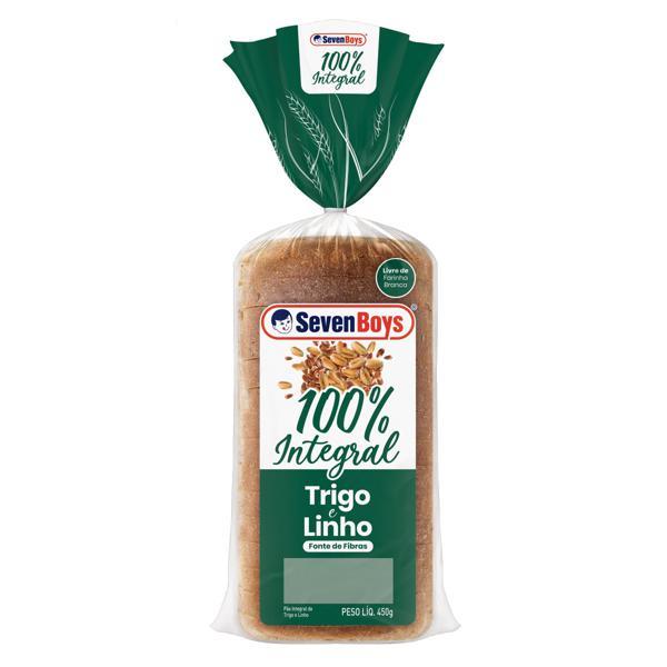 Pão Integral Trigo e Linho Seven Boys Pacote 450g
