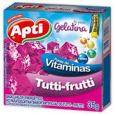 Gelatina Pó APTI Tutti-frutti 35g
