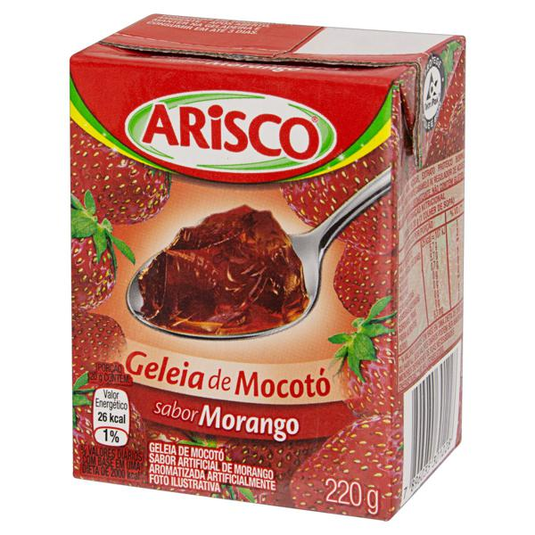 Geleia de Mocotó Morango Arisco Caixa 220g