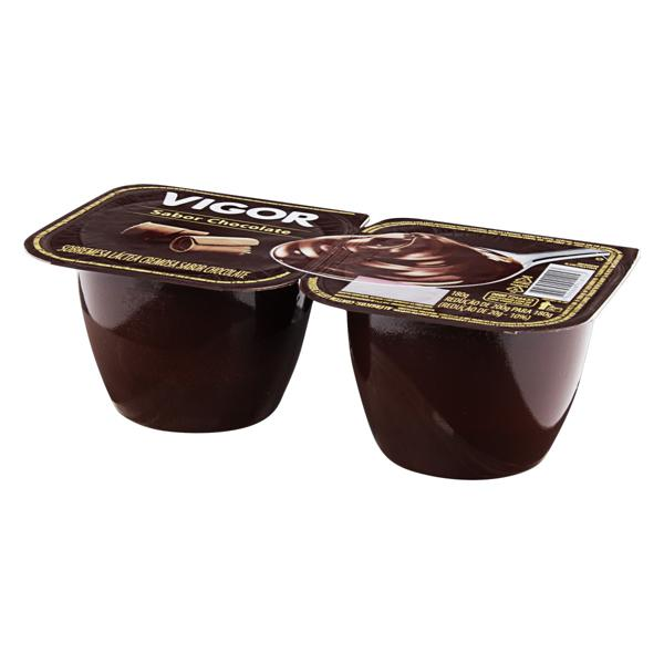 Sobremesa Láctea Chocolate Vigor Pote 180g 2 Unidades