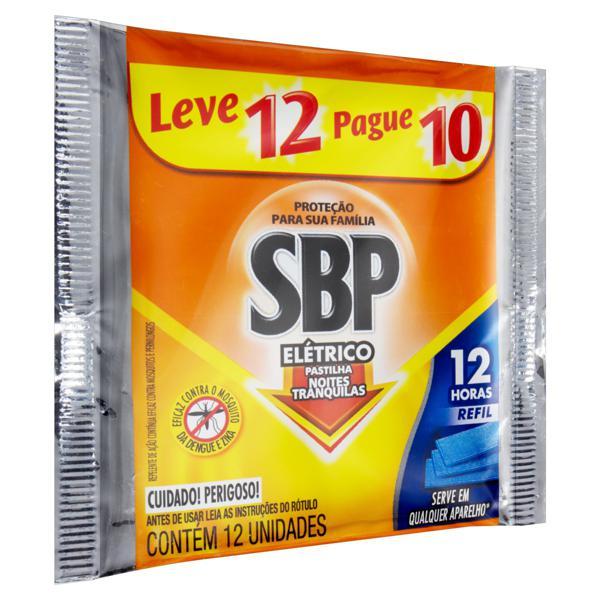 Repelente Elétrico Pastilha SBP Noites Tranquilas Pacote Leve 12 Pague 10 Unidades Refil