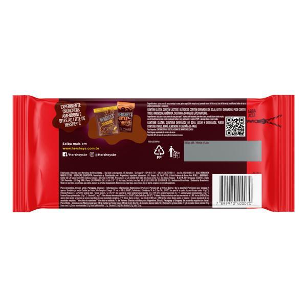 Chocolate Meio Amargo 40% Cacau Hershey's Pacote 92g