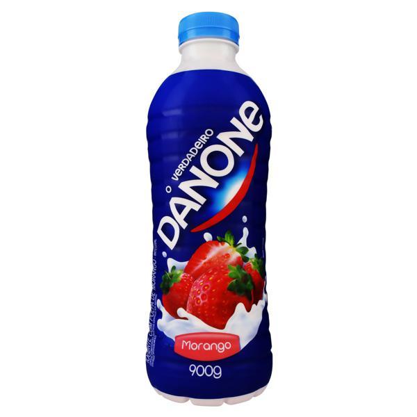 Iogurte Integral Morango Danone Garrafa 900g