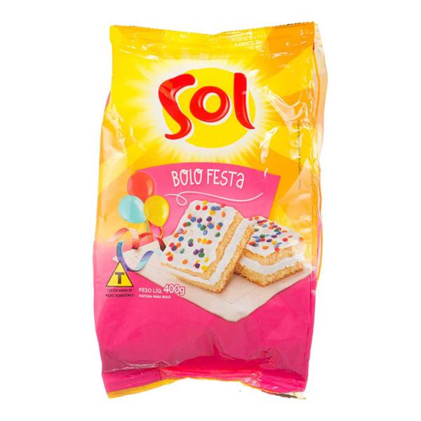 Mistura para Bolo SOL Festa 400g