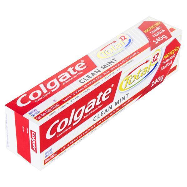 Creme Dental Clear Mint Colgate Total 12 Caixa 140g