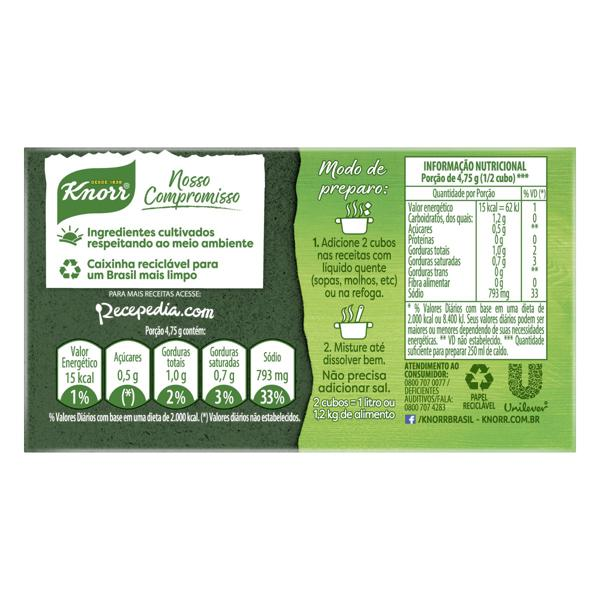 Caldo em Tablete Costela Knorr Caixa 57g 6 Unidades