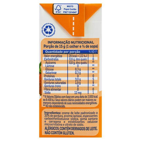 Creme de Leite UHT Homogeneizado Zero Lactose Piracanjuba Caixa 200g