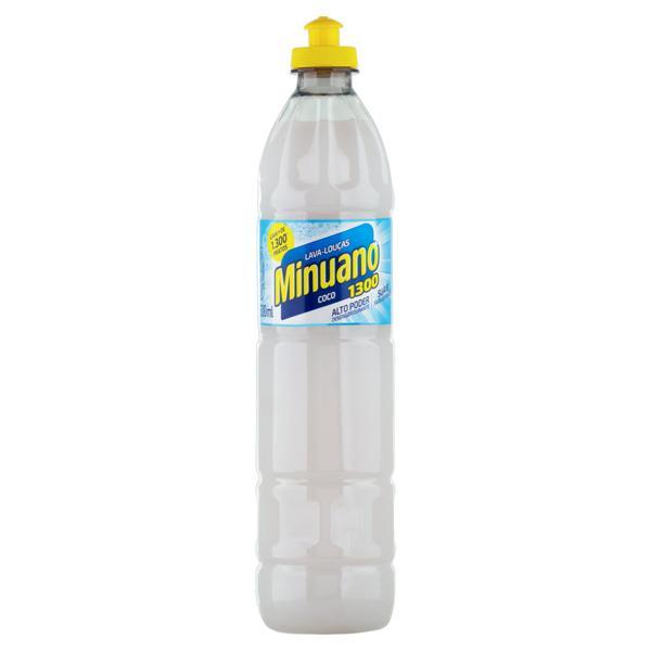 Detergente Líquido Coco Minuano 1300 Frasco 500ml
