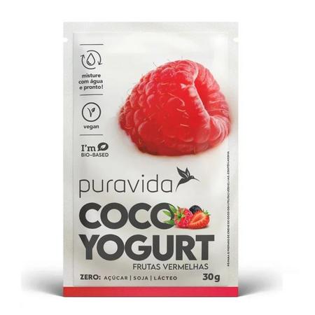 Cocoyogurt Vegano Frutas Vermelhas 30g - Puravida