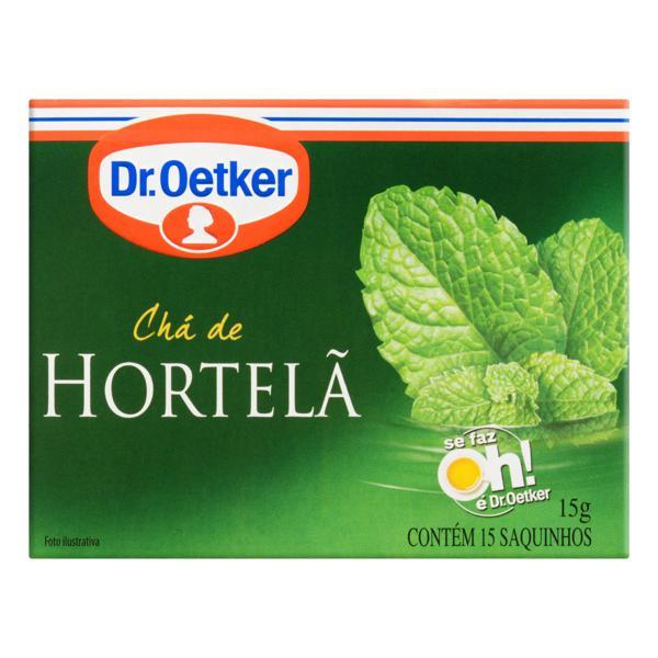 Chá de Hortelã Dr. Oetker Caixa 15g 15 Unidades