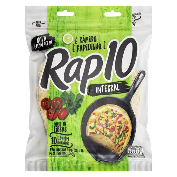 Pão Tortilha Integral Rap 10 Pouch 330g