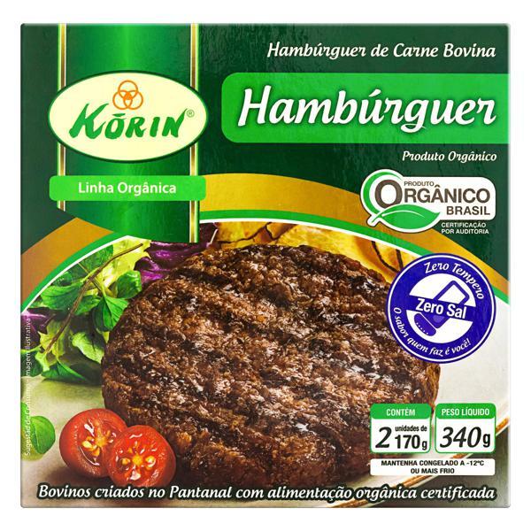 Hambúrguer de Carne Bovina Orgânico KORIN 340g