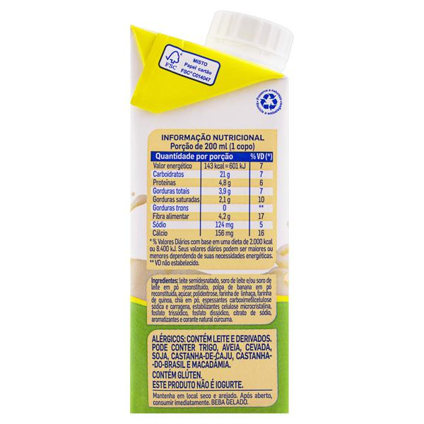 Bebida Láctea UHT Banana Piracanjuba Caixa 200ml