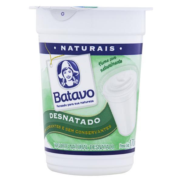 Iogurte Desnatado Batavo Naturais Pote 170g