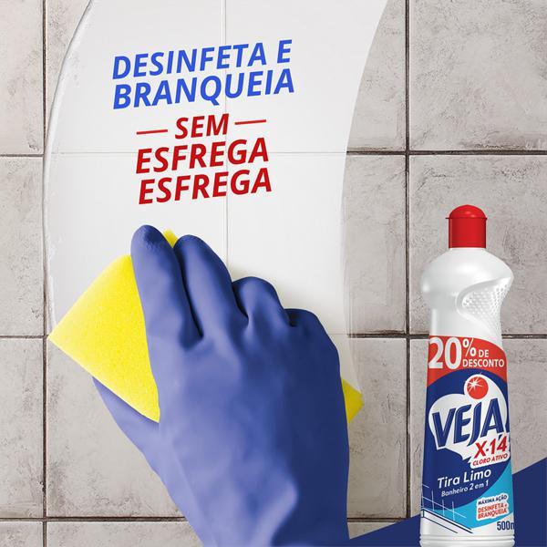 Desinfetante Banheiro Tira-Limo Veja X-14 Frasco 500ml Grátis 20% de Desconto