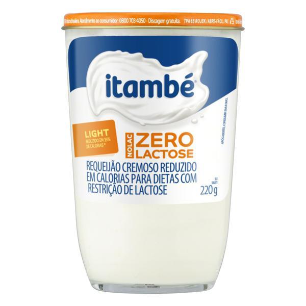 Requeijão Cremoso Light Zero Lactose Itambé Nolac Copo 220g