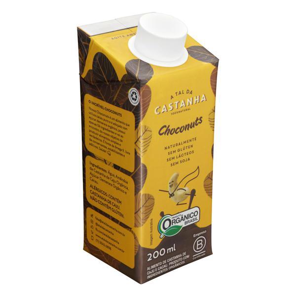 Bebida à Base de Castanha-de-Caju e Cacau Orgânica Choconuts A Tal da Castanha Caixa 200ml