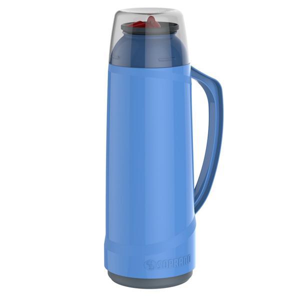 Garrafa Térmica CRISTAL Azul ou Vermelha 1L