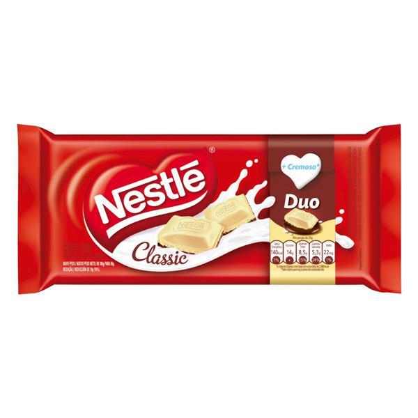 Chocolate ao Leite e Branco Duo Nestlé Classic Pacote 90g