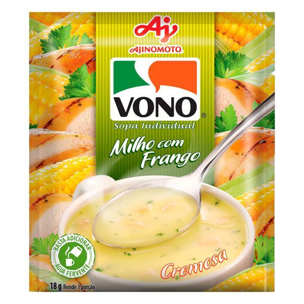 Sopa Individual Cremosa Milho com Frango Vono Sachê 18g