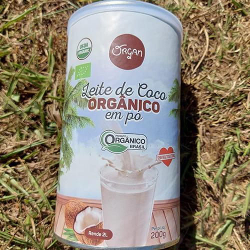 Leite vegetal de côco orgânico em pó Organ (200g)