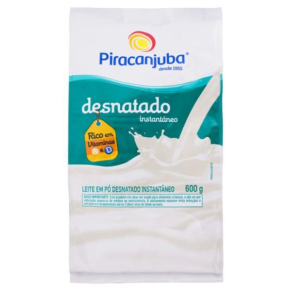 Leite em Pó Instantâneo Desnatado Piracanjuba Pacote 600g