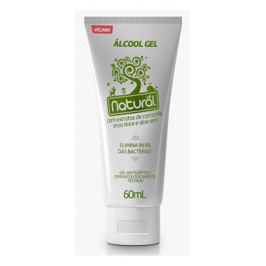 Álcool Gel 70% Camomila 60ml - Orgânico Natural