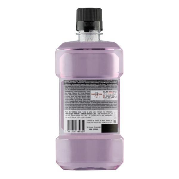 Enxaguante Bucal Antisséptico Zero Álcool Menta Fresca Listerine Cuidado Total Frasco 500ml