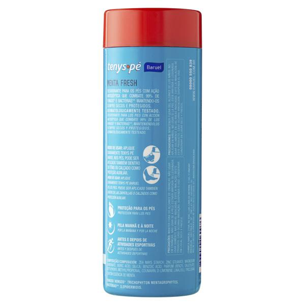 Desodorante para os Pés em Pó Baruel Tenys Pé Menta Fresh Frasco 100g