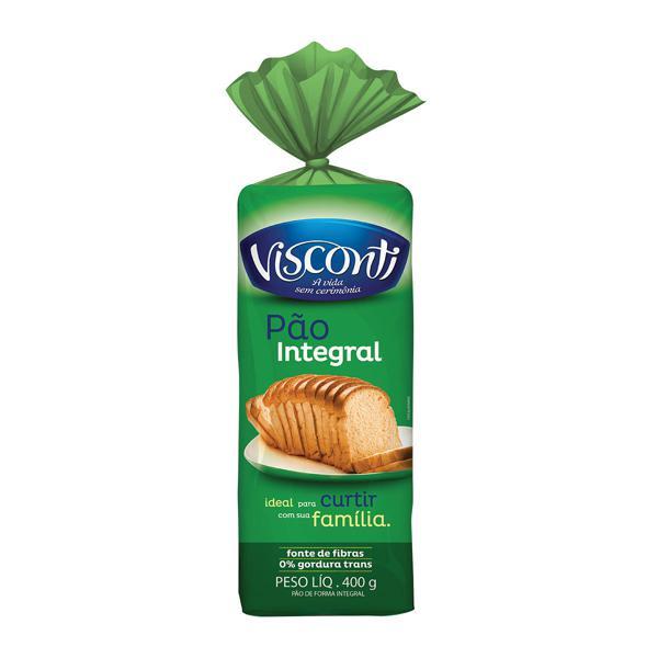 Pão de Forma Visconti 400G Integral
