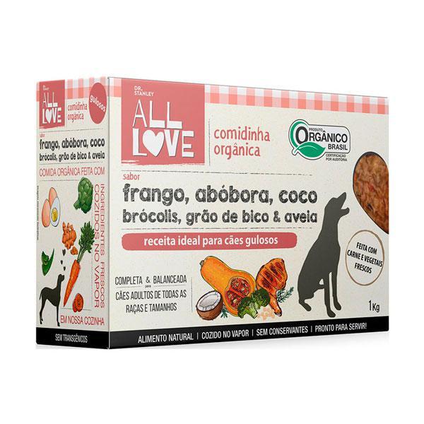 Comidinha Orgânica Para Cães Frango, Legumes e Grãos 1kg - Dr. Stanley