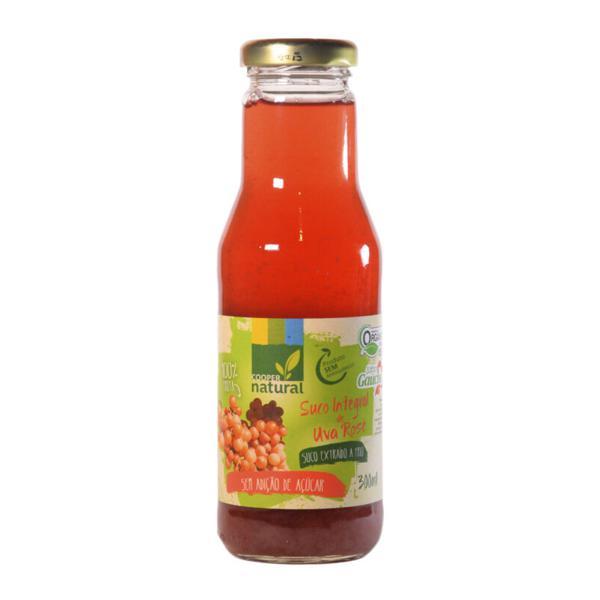 Suco de Uva Rosé Orgânico Extraído a Frio (300ml)