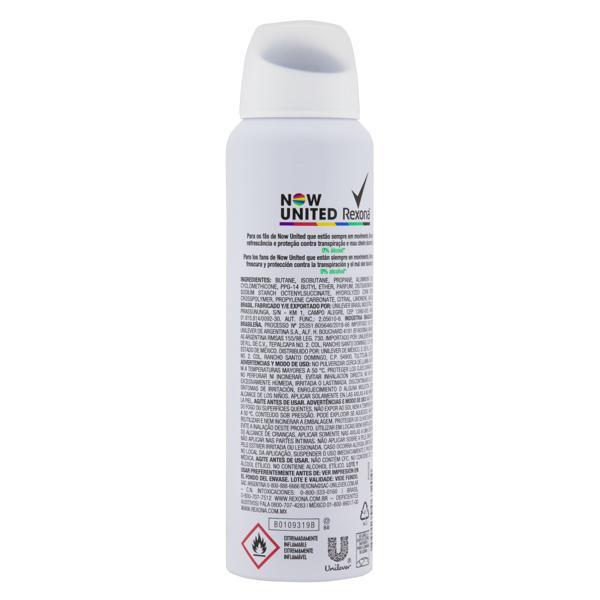 Antitranspirante Aerossol Now United Rexona Motionsense 150ml