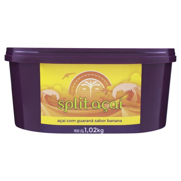 Açaí com Guaraná Banana Split Açaí Pote 1,02kg
