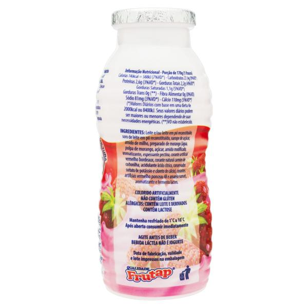 Bebida Láctea Fermentada Morango Frutilac Frasco 170g