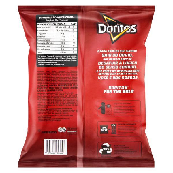 Salgadinho de Milho Queijo Nacho Doritos Pacote 167g