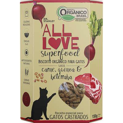 Biscoito Orgânico Superfood Para Gatos   Carne, Quinoa & Beterraba 150g - Dr. Stanley