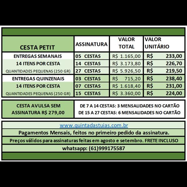PETIT - 7 ou 14 Cestas