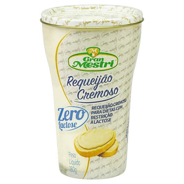 Requeijão Cremoso Zero Lactose Gran Mestri Vidro 180g