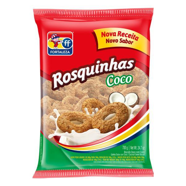 Biscoito Rosquinha Coco Fortaleza Pacote 700g