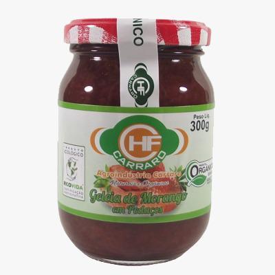 Geleia De Morango Organica  300 Grs