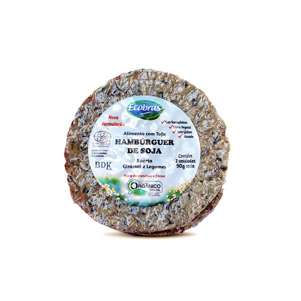 Tofuburguer de Girassol e Legumes Orgânico 2x90g - Ecobras
