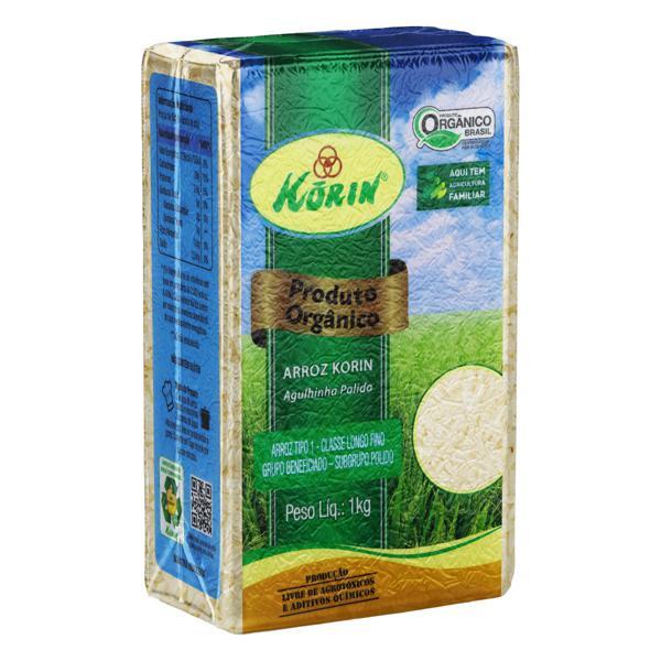 Arroz Agulhinha Polido Tipo 1 Orgânico Korin Pacote 1kg