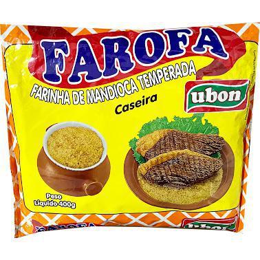 Farofa De Mandioca Ubon Pronta Temperada 400G