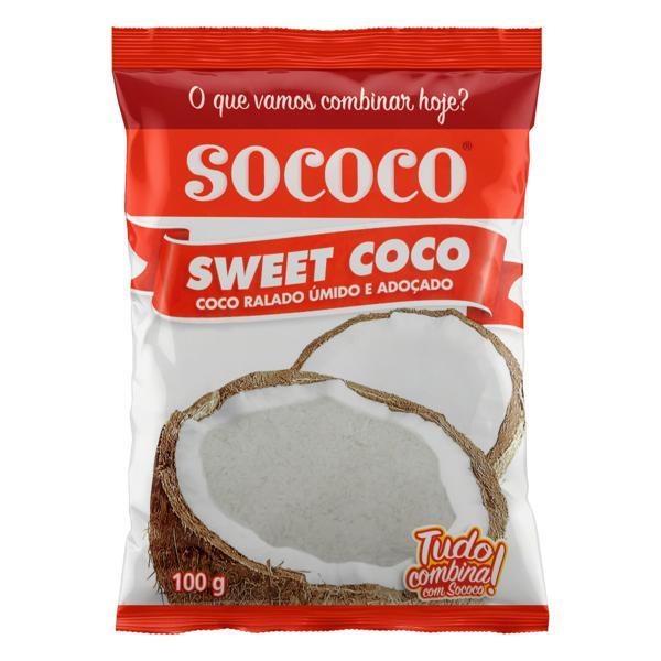 Coco Ralado Úmido Adoçado Sococo Sweet Coco Pacote 100g